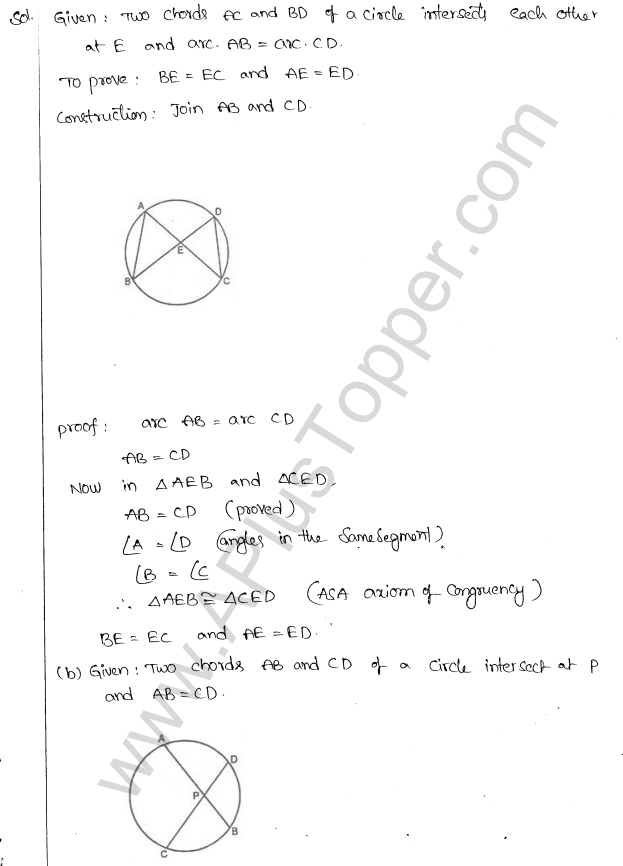 ML Aggarwal ICSE Solutions for Class 10 Maths Chapter 16 Circles Q1.70
