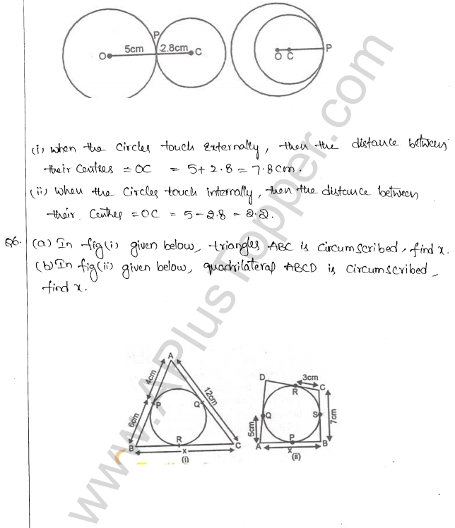 ML Aggarwal ICSE Solutions for Class 10 Maths Chapter 16 Circles Q1.79