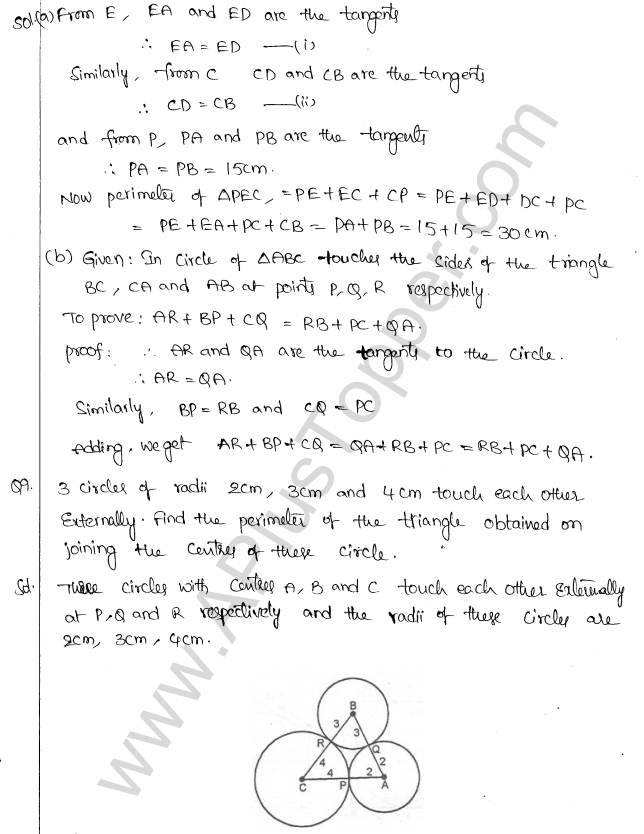 ML Aggarwal ICSE Solutions for Class 10 Maths Chapter 16 Circles Q1.83