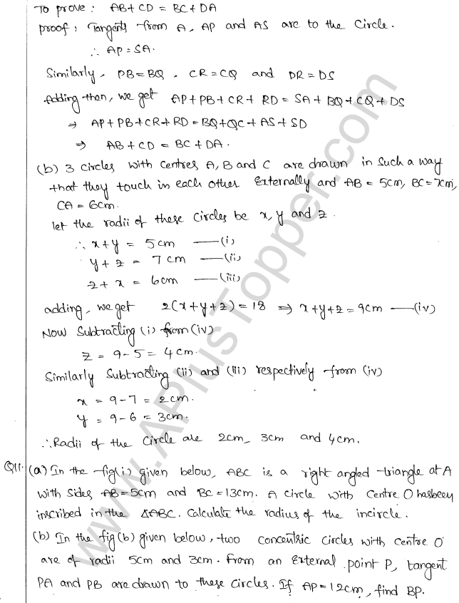 ML Aggarwal ICSE Solutions for Class 10 Maths Chapter 16 Circles Q1.85