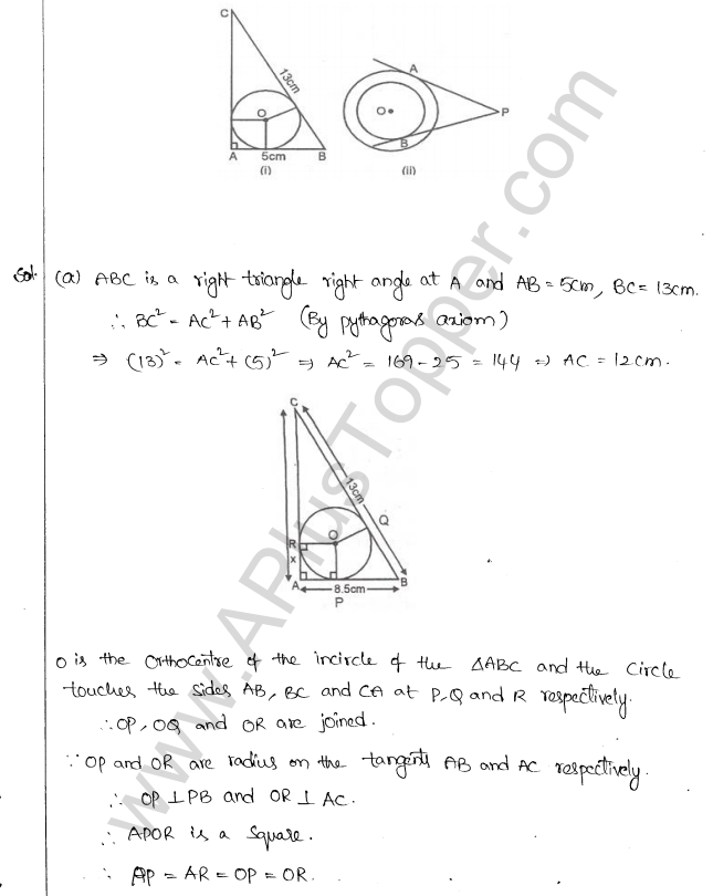 ML Aggarwal ICSE Solutions for Class 10 Maths Chapter 16 Circles Q1.86
