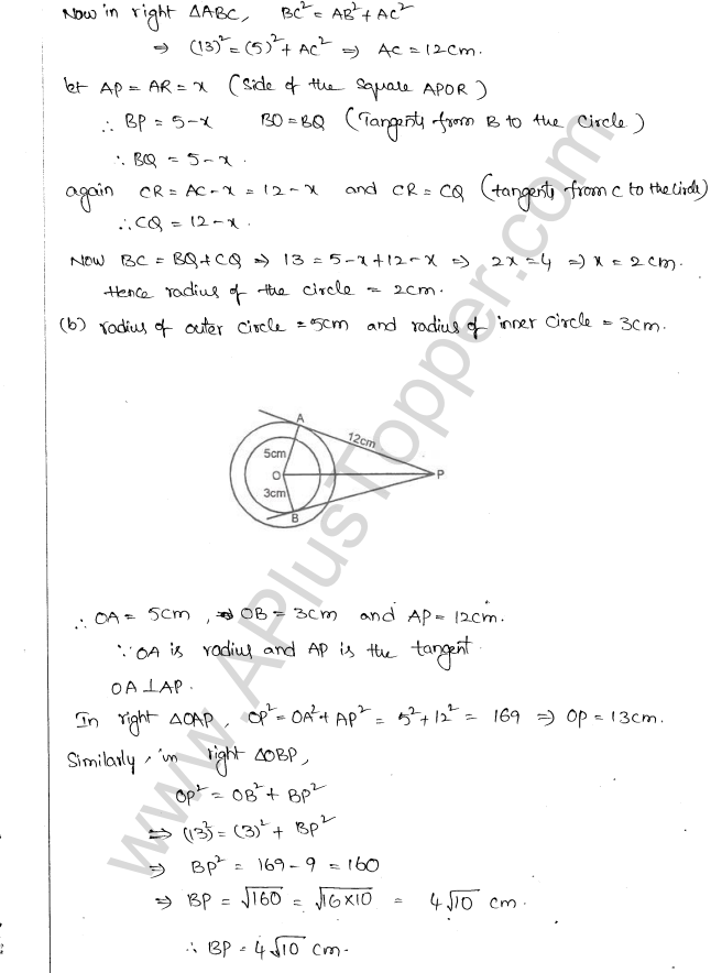 ML Aggarwal ICSE Solutions for Class 10 Maths Chapter 16 Circles Q1.87