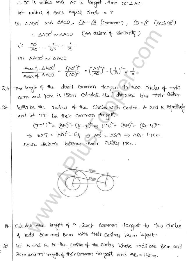 ML Aggarwal ICSE Solutions for Class 10 Maths Chapter 16 Circles Q1.89