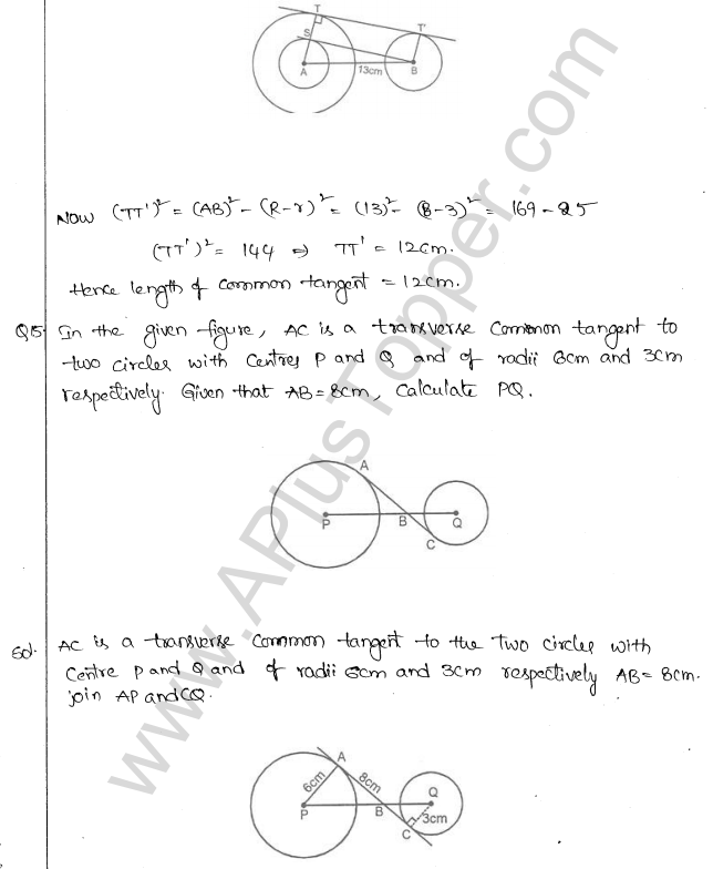 ML Aggarwal ICSE Solutions for Class 10 Maths Chapter 16 Circles Q1.90