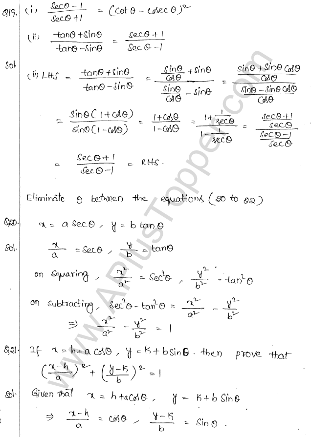 ML Aggarwal ICSE Solutions for Class 10 Maths Chapter 19 Trigonometric Identities Q1.13