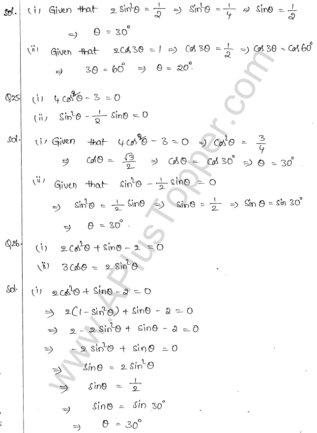 ML Aggarwal ICSE Solutions for Class 10 Maths Chapter 19 Trigonometric Identities Q1.15