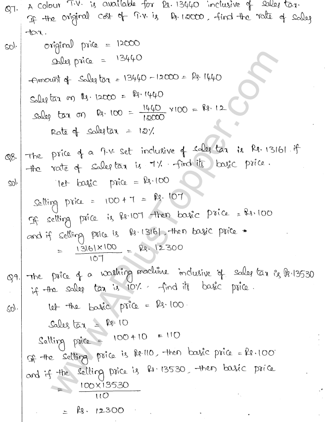 ML Aggarwal ICSE Solutions for Class 10 Maths Chapter 2 Sales Tax And Value Added Tax Q1.4