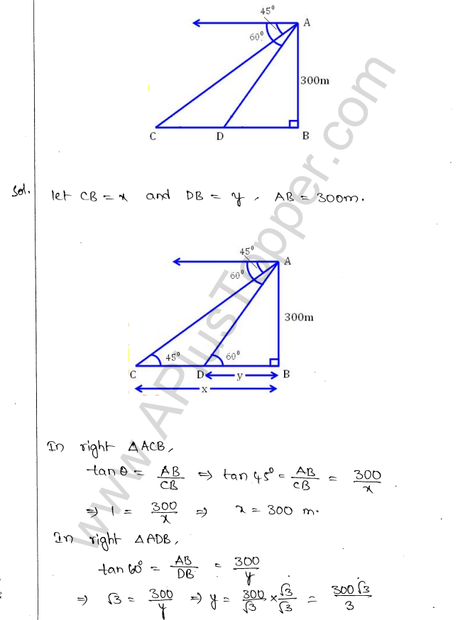 ML Aggarwal ICSE Solutions for Class 10 Maths Chapter 21 Heights and Distances Q1.23