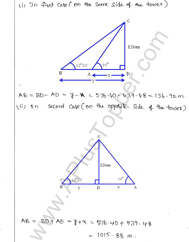 ML Aggarwal ICSE Solutions for Class 10 Maths Chapter 21 Heights and Distances Q1.30