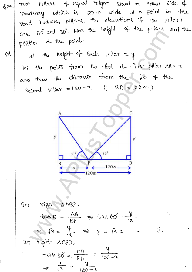 ML Aggarwal ICSE Solutions for Class 10 Maths Chapter 21 Heights and Distances Q1.31