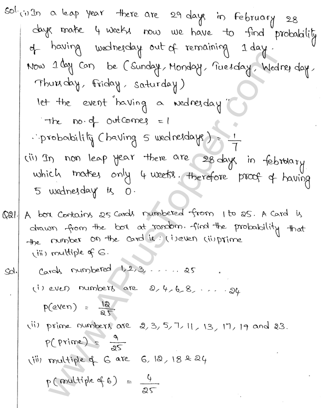 ML Aggarwal ICSE Solutions for Class 10 Maths Chapter 24 Probability Q1.12