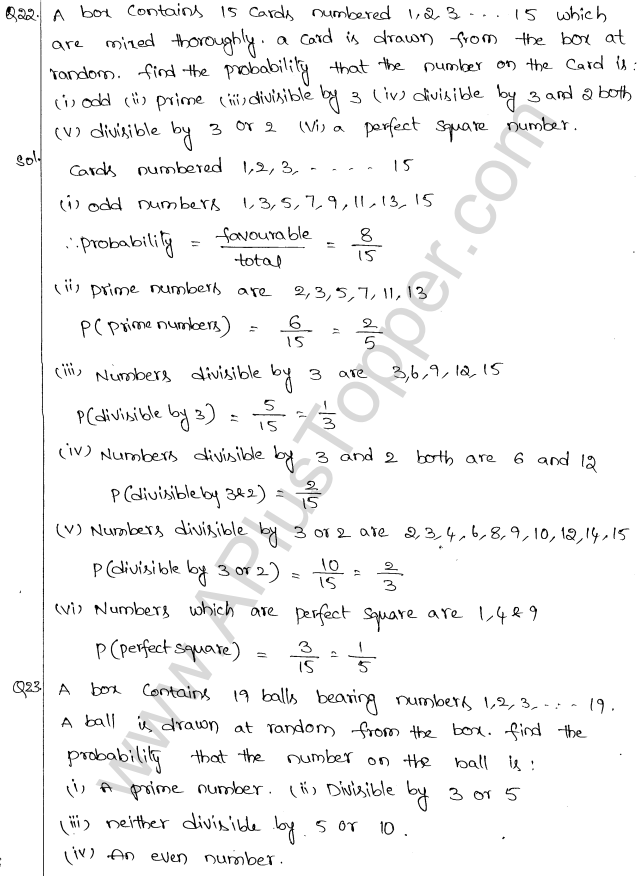 ML Aggarwal ICSE Solutions for Class 10 Maths Chapter 24 Probability Q1.13