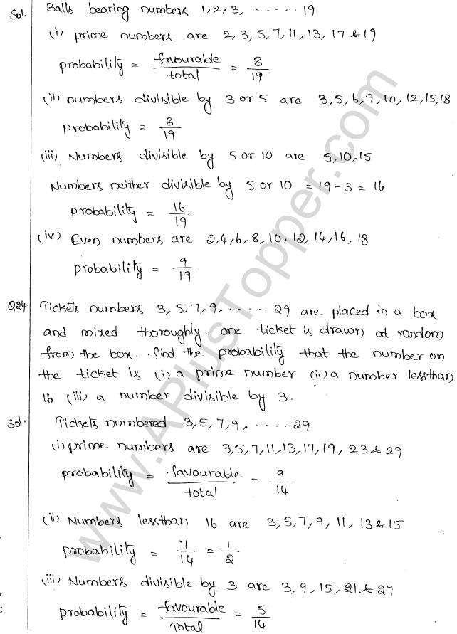 ML Aggarwal ICSE Solutions for Class 10 Maths Chapter 24 Probability Q1.14