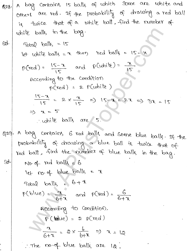 ML Aggarwal ICSE Solutions for Class 10 Maths Chapter 24 Probability Q1.17