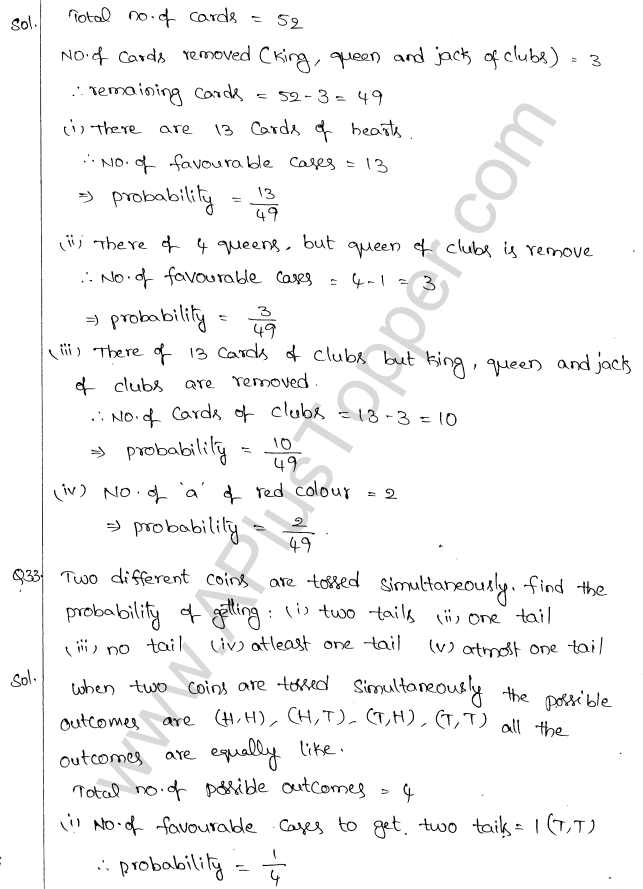 ML Aggarwal ICSE Solutions for Class 10 Maths Chapter 24 Probability Q1.21