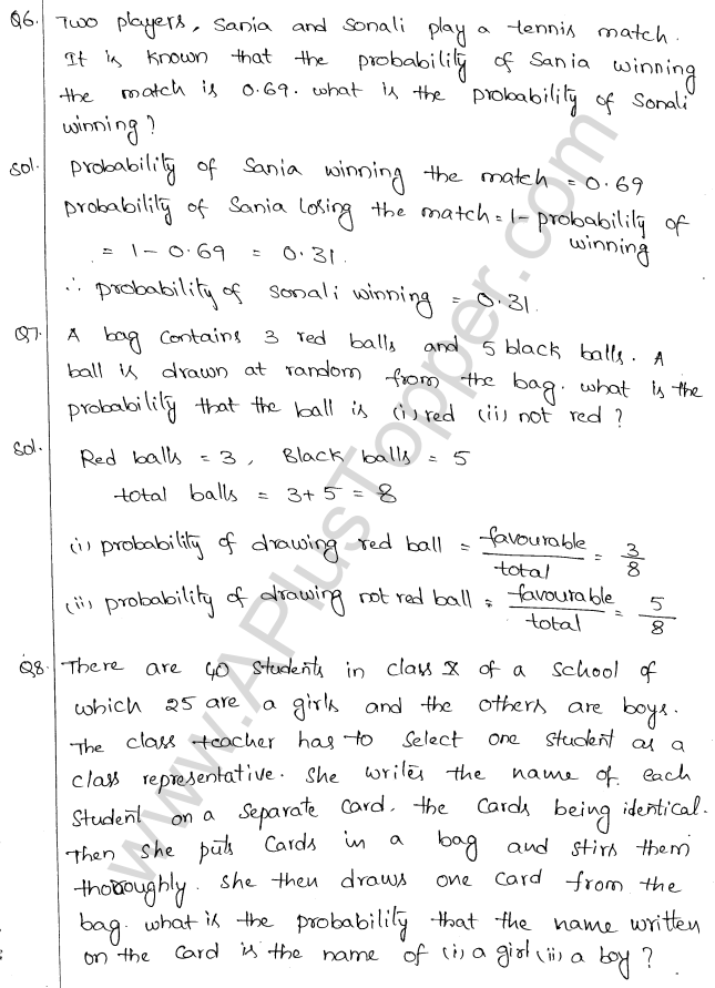 ML Aggarwal ICSE Solutions for Class 10 Maths Chapter 24 Probability Q1.3