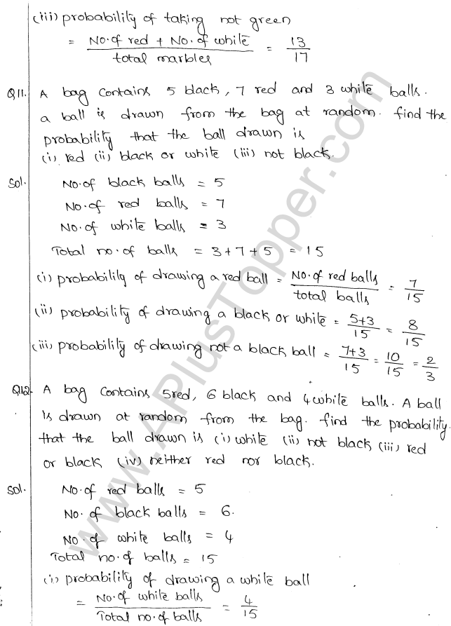 ML Aggarwal ICSE Solutions for Class 10 Maths Chapter 24 Probability Q1.5