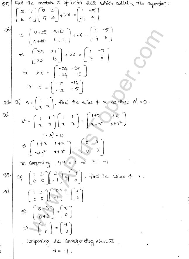 ML Aggarwal ICSE Solutions for Class 10 Maths Chapter 9 Matrices Q1.13