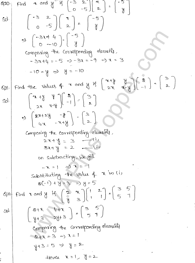 ML Aggarwal ICSE Solutions for Class 10 Maths Chapter 9 Matrices Q1.14
