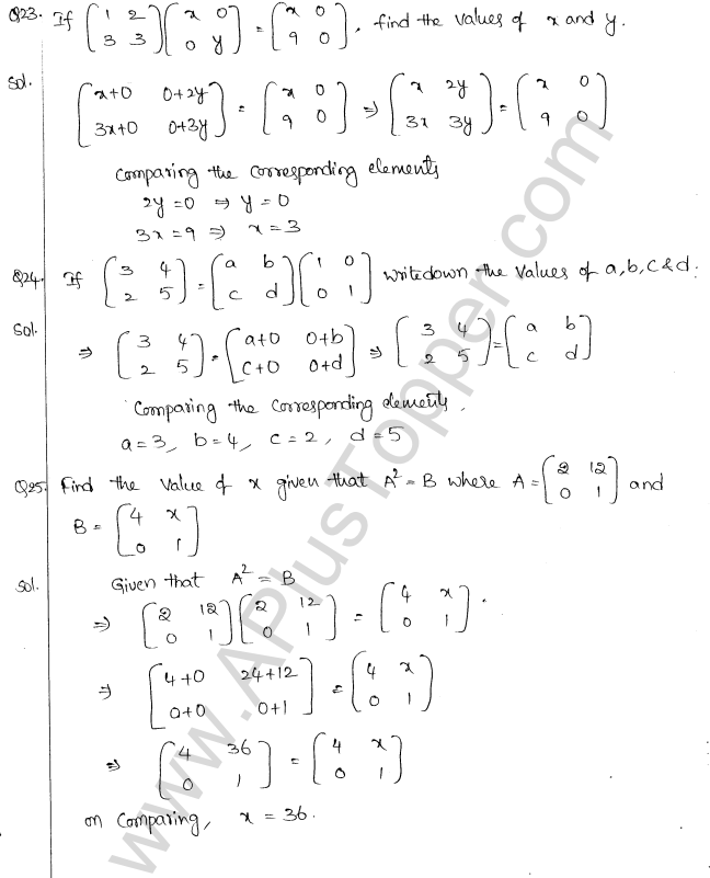 ML Aggarwal ICSE Solutions for Class 10 Maths Chapter 9 Matrices Q1.15