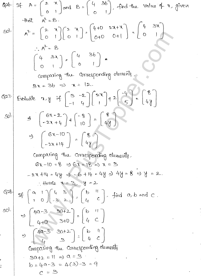 ML Aggarwal ICSE Solutions for Class 10 Maths Chapter 9 Matrices Q1.16