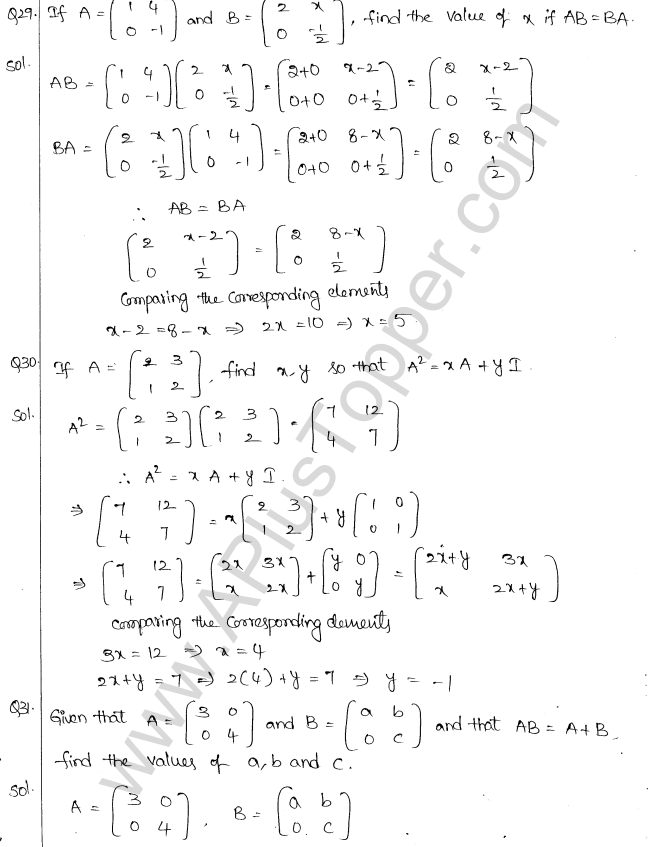 ML Aggarwal ICSE Solutions for Class 10 Maths Chapter 9 Matrices Q1.17