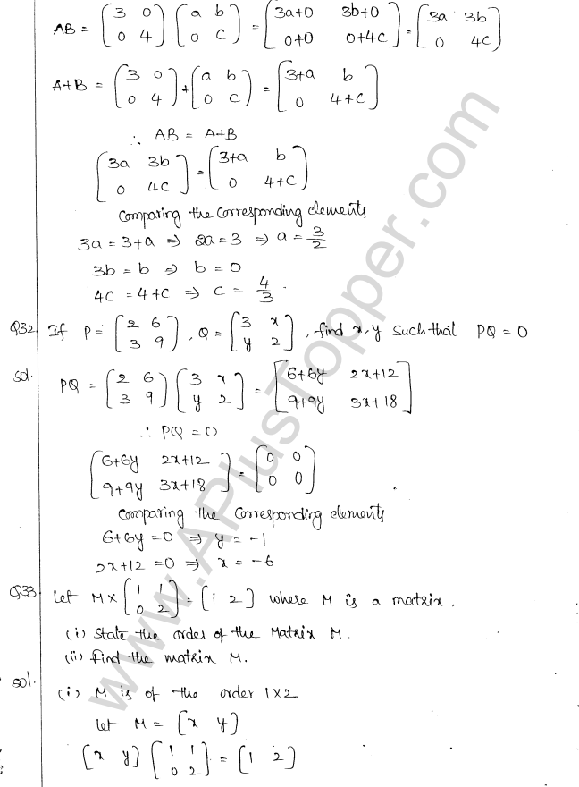 ML Aggarwal ICSE Solutions for Class 10 Maths Chapter 9 Matrices Q1.18