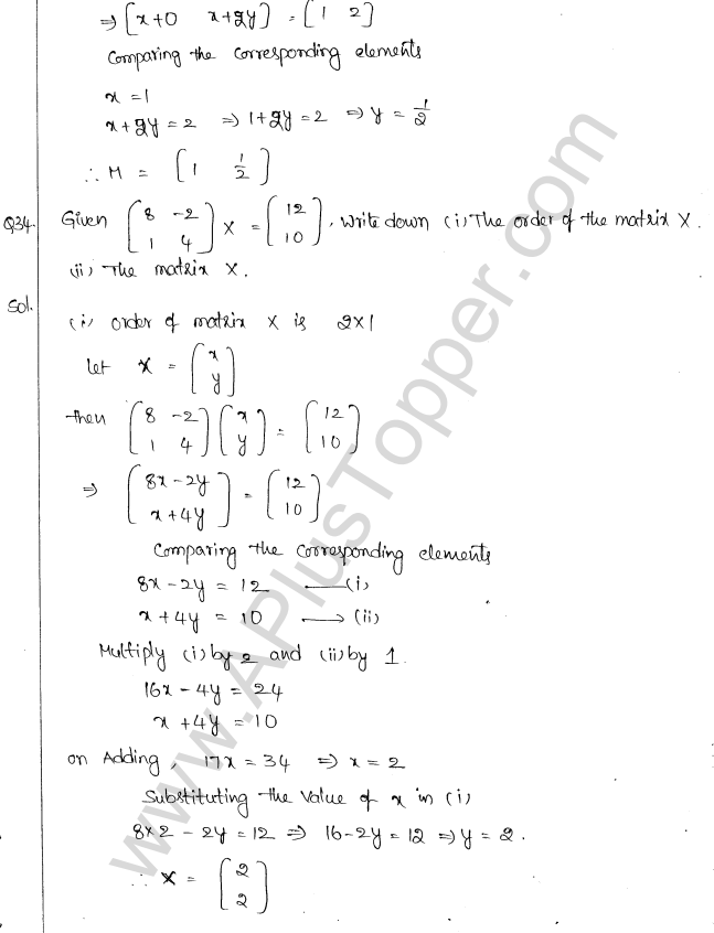 ML Aggarwal ICSE Solutions for Class 10 Maths Chapter 9 Matrices Q1.19