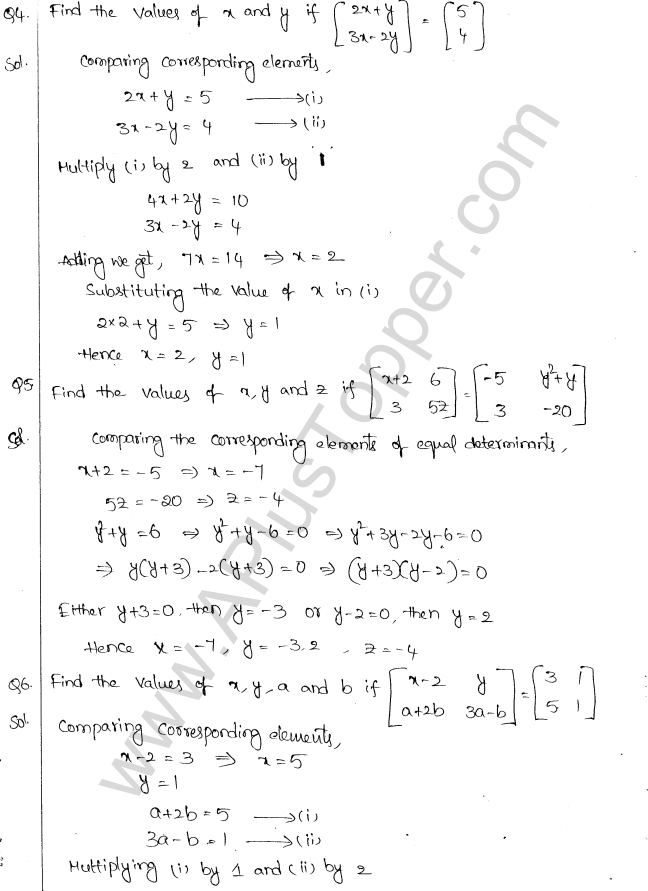 ML Aggarwal ICSE Solutions for Class 10 Maths Chapter 9 Matrices Q1.2