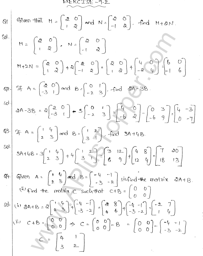 ML Aggarwal ICSE Solutions for Class 10 Maths Chapter 9 Matrices Q1.4