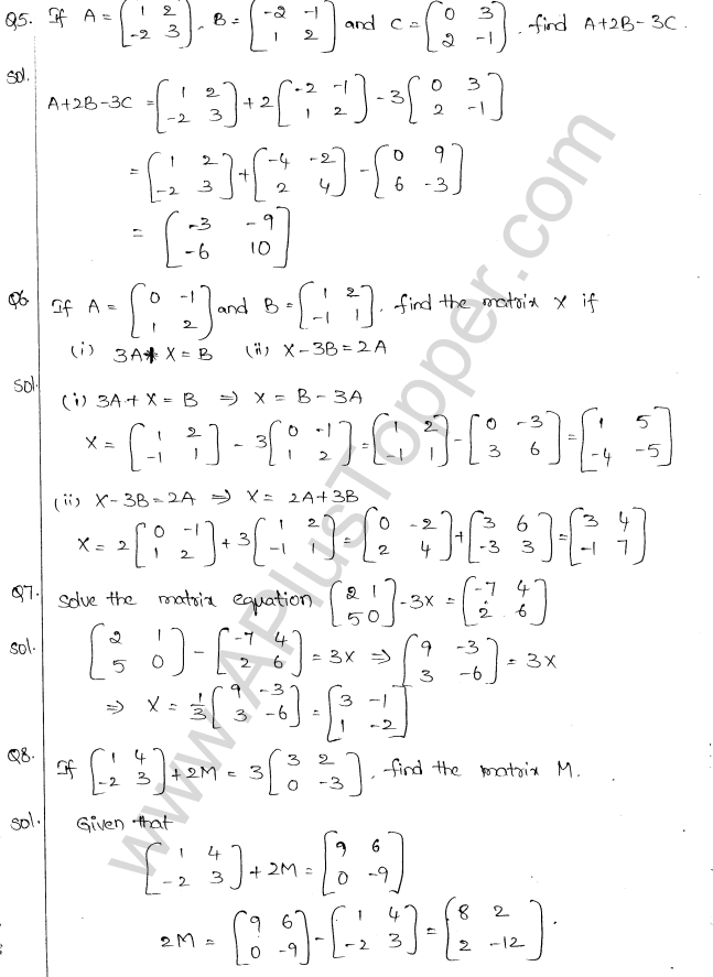 ML Aggarwal ICSE Solutions for Class 10 Maths Chapter 9 Matrices Q1.5