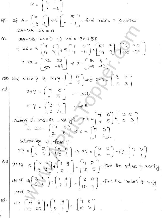 ML Aggarwal ICSE Solutions for Class 10 Maths Chapter 9 Matrices Q1.6
