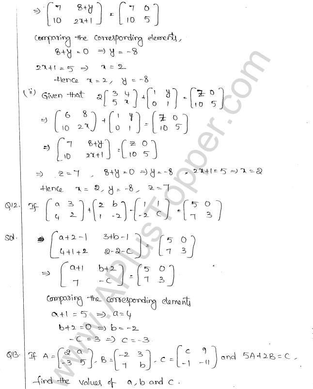 ML Aggarwal ICSE Solutions for Class 10 Maths Chapter 9 Matrices Q1.7