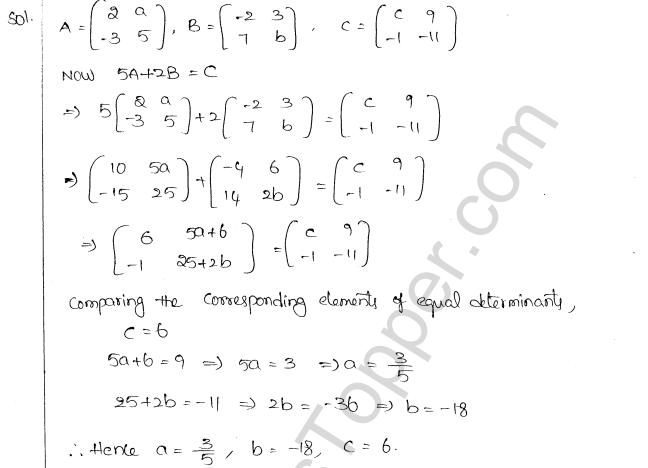 ML Aggarwal ICSE Solutions for Class 10 Maths Chapter 9 Matrices Q1.8