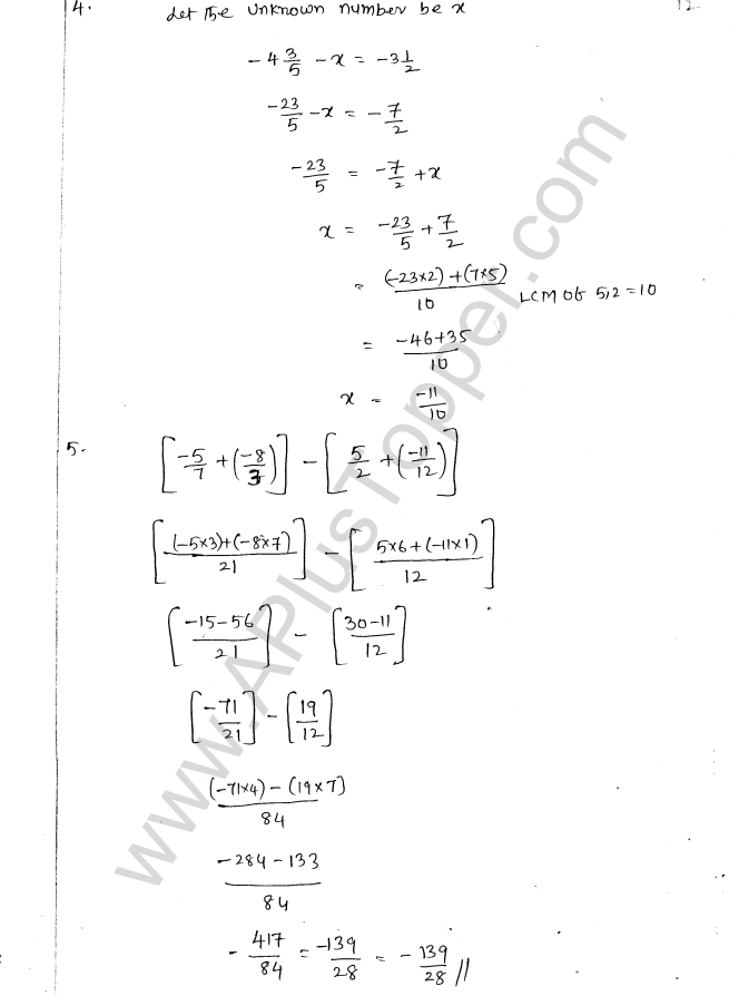 ML Aggarwal ICSE Solutions for Class 8 Maths Chapter 1 Rational Numbers 12