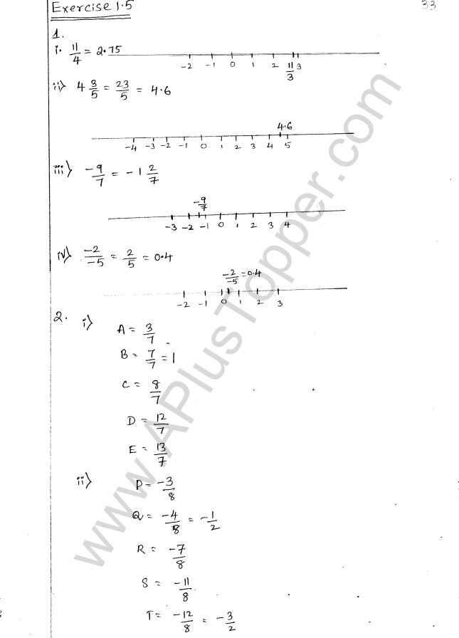 ML Aggarwal ICSE Solutions for Class 8 Maths Chapter 1 Rational Numbers 33