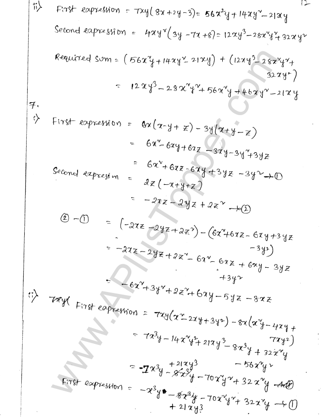 ML Aggarwal ICSE Solutions for Class 8 Maths Chapter 10 Algebraic Expressions and Identities 12