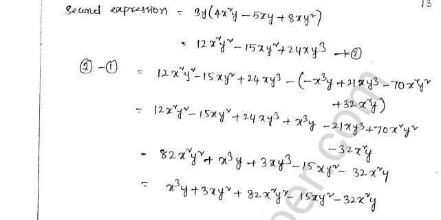 ML Aggarwal ICSE Solutions for Class 8 Maths Chapter 10 Algebraic Expressions and Identities 13