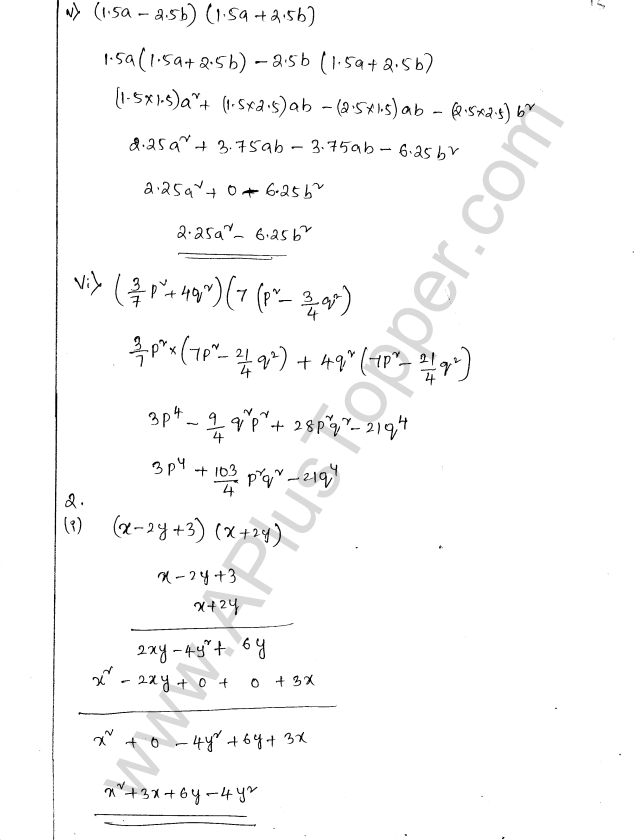 ML Aggarwal ICSE Solutions for Class 8 Maths Chapter 10 Algebraic Expressions and Identities 15