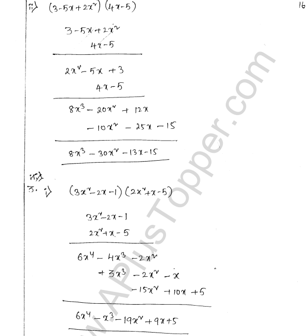 ML Aggarwal ICSE Solutions for Class 8 Maths Chapter 10 Algebraic Expressions and Identities 16