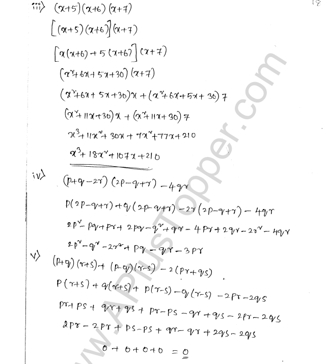 ML Aggarwal ICSE Solutions for Class 8 Maths Chapter 10 Algebraic Expressions and Identities 18