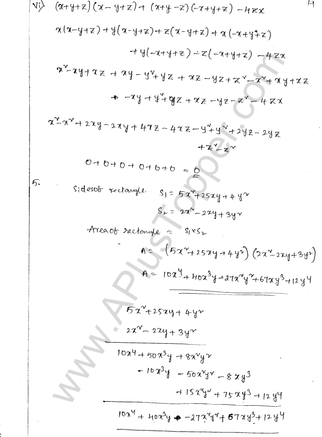 ML Aggarwal ICSE Solutions for Class 8 Maths Chapter 10 Algebraic Expressions and Identities 19