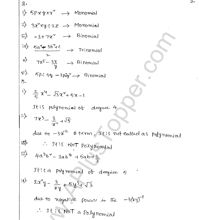 ML Aggarwal ICSE Solutions for Class 8 Maths Chapter 10 Algebraic Expressions and Identities 2