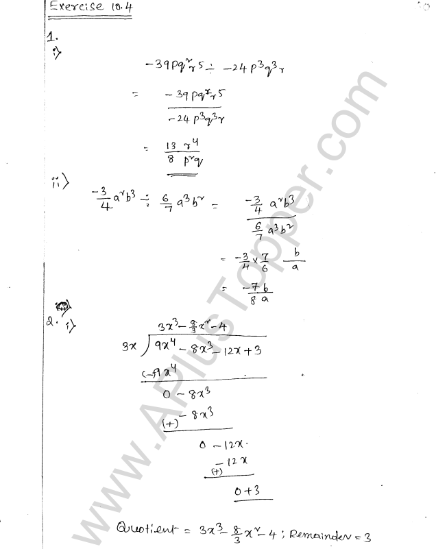 ML Aggarwal ICSE Solutions for Class 8 Maths Chapter 10 Algebraic Expressions and Identities 20