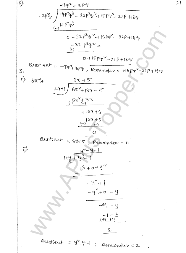ML Aggarwal ICSE Solutions for Class 8 Maths Chapter 10 Algebraic Expressions and Identities 21
