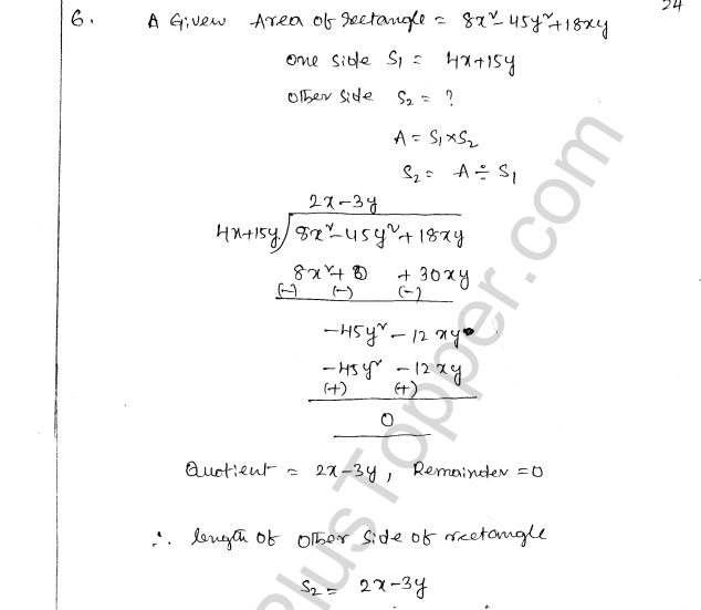 ML Aggarwal ICSE Solutions for Class 8 Maths Chapter 10 Algebraic Expressions and Identities 24