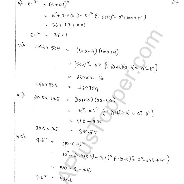 ML Aggarwal ICSE Solutions for Class 8 Maths Chapter 10 Algebraic Expressions and Identities 27