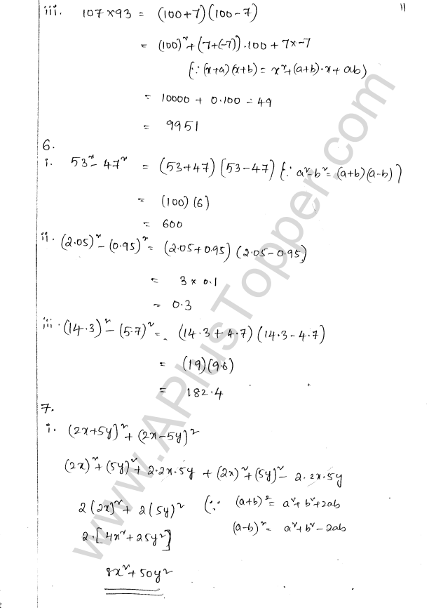 ML Aggarwal ICSE Solutions for Class 8 Maths Chapter 10 Algebraic Expressions and Identities 30