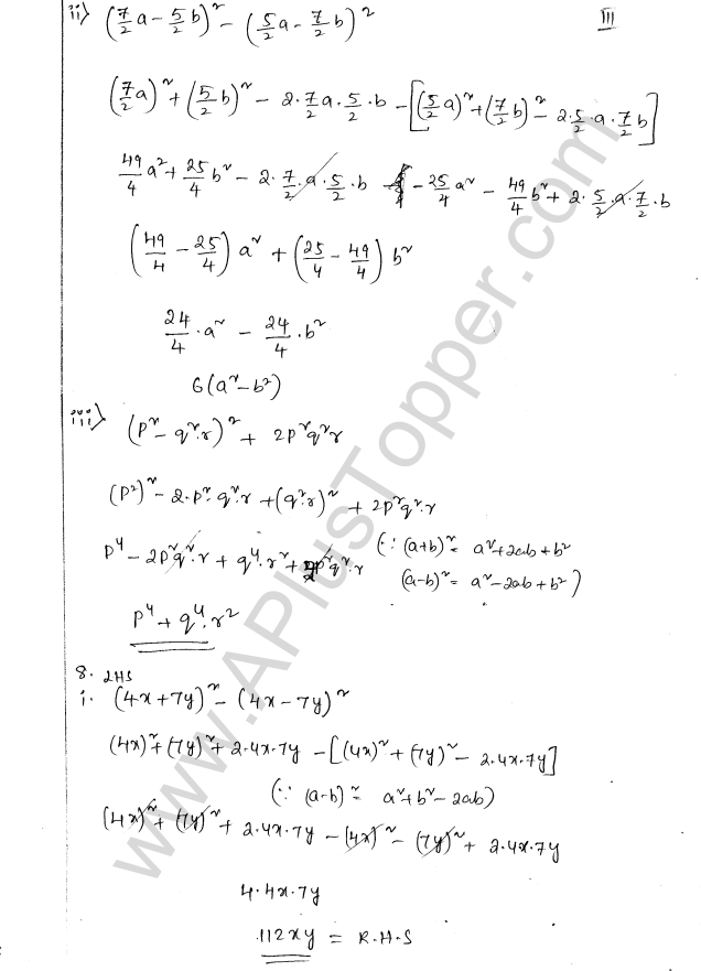 ML Aggarwal ICSE Solutions for Class 8 Maths Chapter 10 Algebraic Expressions and Identities 31
