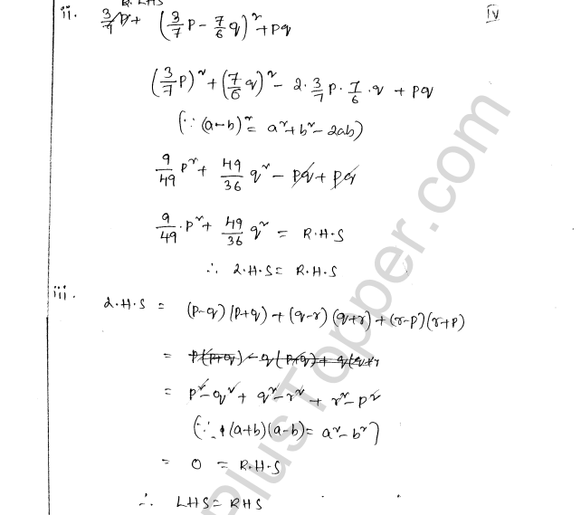 ML Aggarwal ICSE Solutions for Class 8 Maths Chapter 10 Algebraic Expressions and Identities 32
